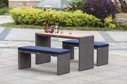 All Weather Resin Wicker & Poly Wood Indoor and Outdoor Patio Furnitur