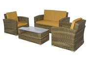 Patio Wicker 4 Piece Conversation Set