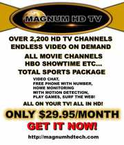 QUALITY HD TV ONLY $29.95/ MONTH OVER 2250 CHANNELS