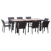 Patio Wicker Extendable Dining Table Set On Sale