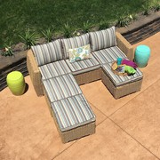 Wicker Sofa With Ottoman On Sale