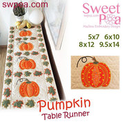 Halloween Embroidery Designs - Pumpkin Quilt Block and Table Runner