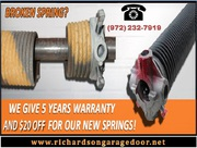 #1 Residential Garage Door Spring Repair company | Richardson,  TX