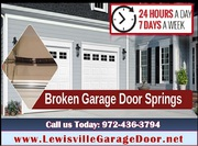 24/7 Garage Door Spring Repair ($25.95) Lewisville Dallas,  75056 TX