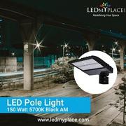 Use Premium LED Chips Designed 150w LED Pole Lights On Streets
