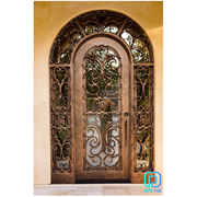 Cheap Vintage Double Wrought Iron Entry Doors