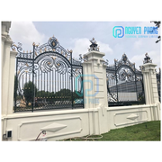 Cheap Wrought Iron Garden Fence Panels With Hot Dip Galvanized