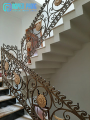 Vietnamese Supplier Of  High-end Wrought Iron Stairs Balcony Railings